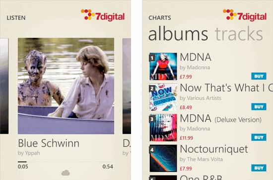 7digital music store offers Windows Phone users 18 million tracks for purchase