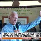Joe Biden pushes back against 2020 rivals, rejects 'safe bet' label