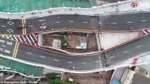 Chinesin wollte nicht ausziehen: Jetzt wurde eine Straße direkt über ihrem Haus gebaut
