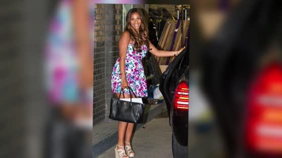 The Saturdays' Rochelle Humes Looks Blooming Beautiful Post Pregnancy in Floral Minidress