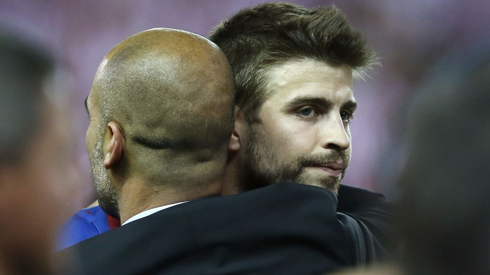 Pique wants to face Guardiola, City in Champions League final
