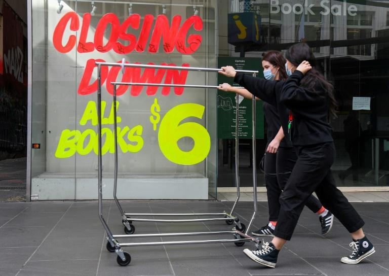 Businesses in Melbourne that rely on foot traffic have been hit hard by the novel coronavirus (AFP Photo/William WEST)