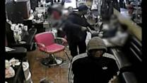 RAW VIDEO: Brazen hair salon robbery