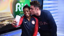 Simone Biles Finally Meets Zac Efron — And Gets a Kiss!