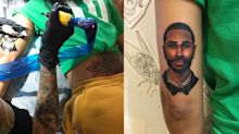Jhené Aiko gets face of BF Big Sean tattooed on her arm