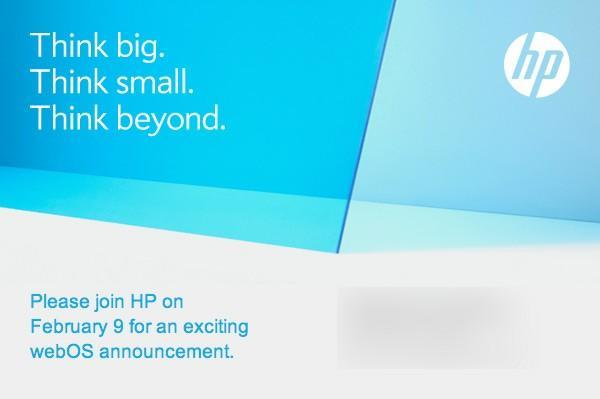 HP invites press to an 'exciting webOS announcement' on February 9th