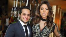 De terno e gravata, Thammy Miranda chama atenção ao lado da noiva