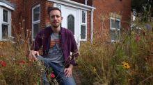 Amateur gardener transforms lawn into meadow