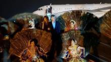 Macri llegó a la India y la vista al Taj Mahal fue si primera actividad