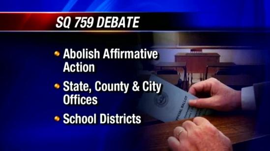 Voters to consider getting rid of affirmative action