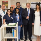 People have strong reactions to the president's smiling visit to Parkland victims