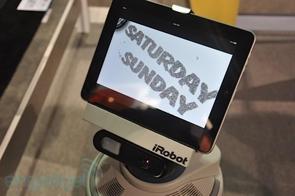 iRobot AVA chills with us at CES, will turn Android and iPad app developers into roboticists (video)