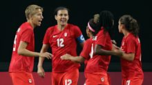 Sinclair scores, Japan tallies late as Canada draws Olympic opener