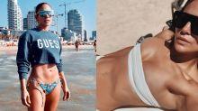 De moletom a minitop: os looks de praia mais incríveis de J-Lo