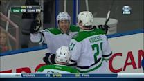Rich Peverley beats Dubnyk on the rebound
