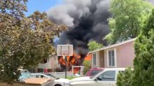 Home bursts into flames as passenger plane crashes in US suburb