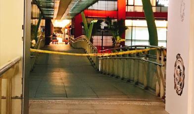 地震斷鋼索 信義區空橋封閉