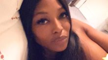Naomi Campbell Shares Topless Photo for 'Selfie Sunday' After Walking London Fashion Week Runway