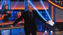 Steve Harvey's hilarious reaction to 'Real Housewives' star's 'blow on it' answer on 'Celeb Family Feud'