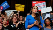 Alexandria Ocasio-Cortez storms Nancy Pelosi's office for climate change protest