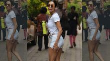 Malaika Arora's White Crop Top And Hotpants Are Rocking Our World About Right Now