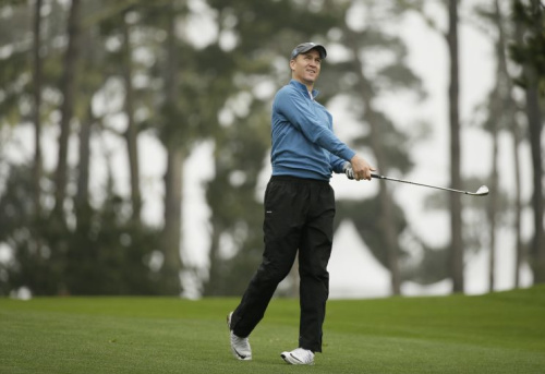 Peyton Manning golfed with President Donald Trump in June. (AP)