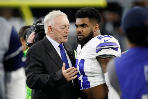 Cowboys owner Jerry Jones has publicly stated some of Ezekiel Elliott are