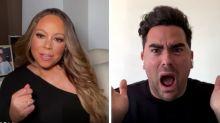 'Schitt's Creek' Cast Shocked When Mariah Carey Crashes Their Commencement Video