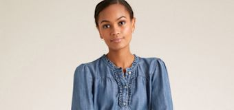 M&S' new top version of Willoughby's denim dress