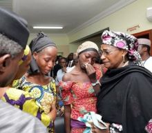 "Nigeria's Buhari tells released Chibok girls he will ""redouble"" rescue efforts"