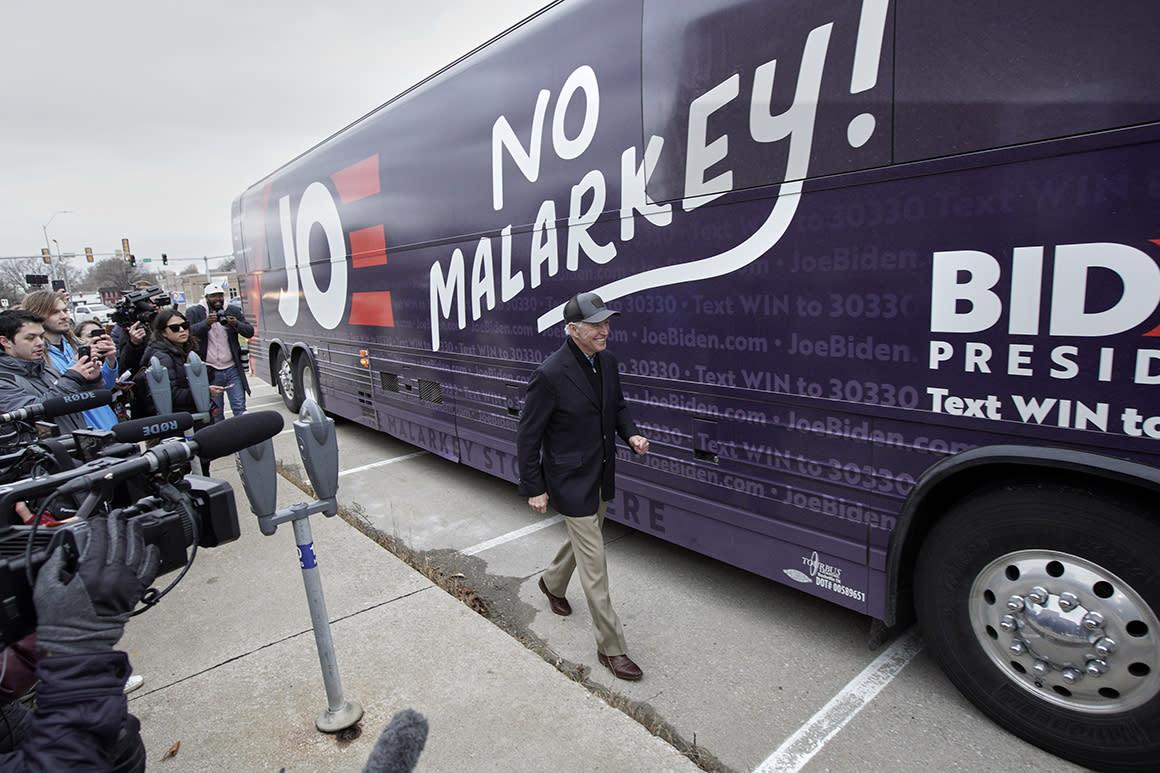 No malarkey? Biden's old-school slogan gets mocked and praised in Iowa