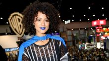 'Game of Thrones' Actress Nathalie Emmanuel Rocked Flawless Blue Lipstick at Comic-Con 2017