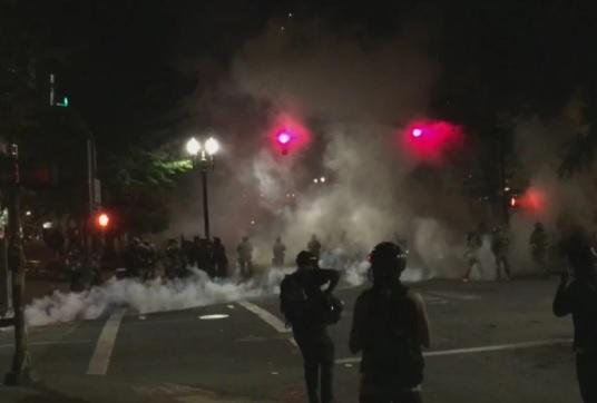 Portland protesters tear-gassed again as crowd size grows