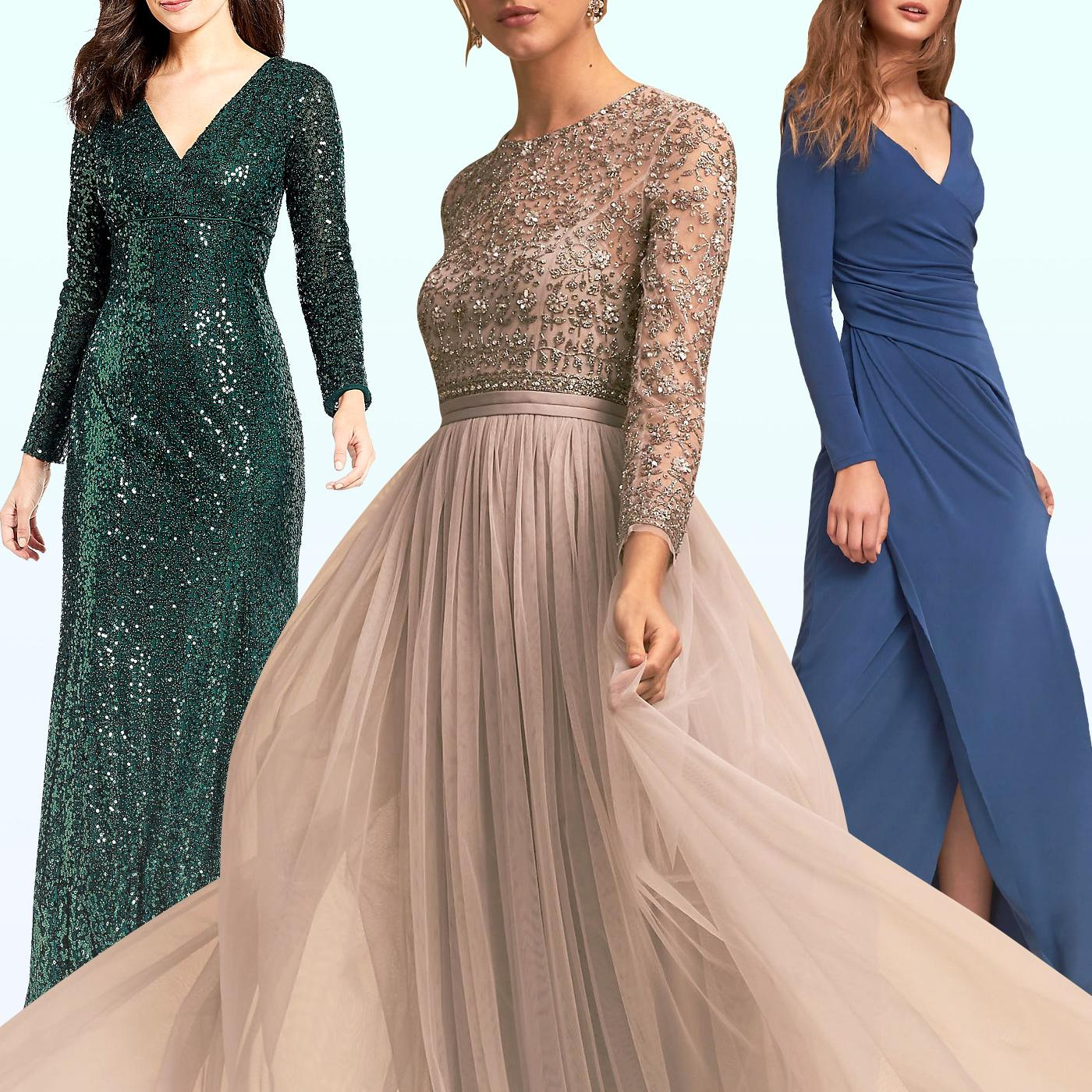 10 gorgeous long sleeved bridesmaid dresses that are for Bridesmaid dresses for a winter wedding