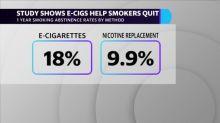 Studie zeigt, dass E-Zigaretten doppelt so effektiv wie Nikotinersatz sind, um Rauchern das Abgewöhnen zu erleichtern