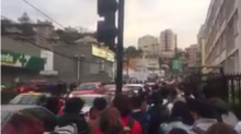 People Fill Central Chilean Streets as Earthquake Prompts Evacuation