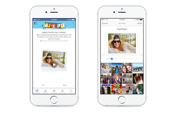 Facebook's latest feature is a supercut of your friendships