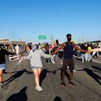 Protestors Over George Floyd's Death Block Los Angeles Freeway