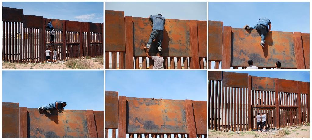 With the help of three other men -- two to give him a boost and one to stand as a lookout -- the young man jumped the rusty metal barrier that separates Ciudad Juarez from Sunland Park, New Mexico