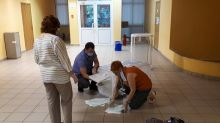 A polling station that was observed records low turnout in Russian vote