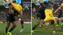 'That's red': Aussies fume over All Black's shocking 'spear tackle'
