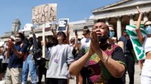 Hundreds of protesters rally in London, Berlin over U.S. death