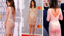 TV star powers through awkward wardrobe malfunction