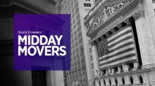 Yahoo Finance Live: Midday Movers - Sep 18th, 2017