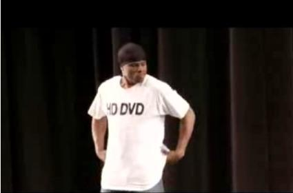 Xbox 360 HD DVD ad: 6x the resolution = 6x the...breakdancers?