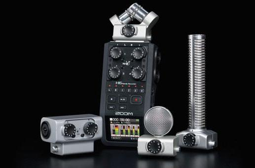 Zoom ships the H6 handheld recorder: six-track recording and interchangeable capsules for $399