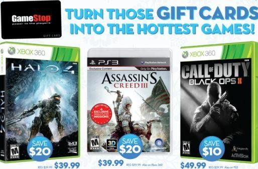 GameStop offering Halo 4 and AC3 for $40, +50% credit on in-store trade-ins