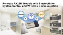 Renesas Launches RX23W Module with Bluetooth for System Control and Wireless Communication on IoT Devices