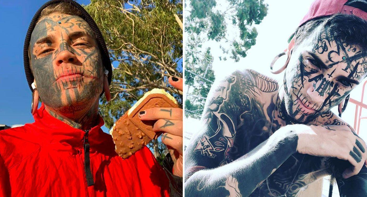 Heavily Tattooed Victorian Man Taunts Police After Warrant Issued