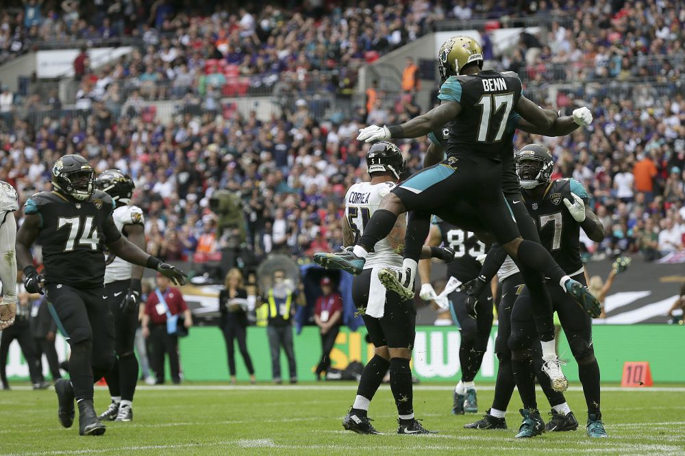 The Jacksonville Jaguars ran a fake punt during a blowout against the Ravens. (AP)